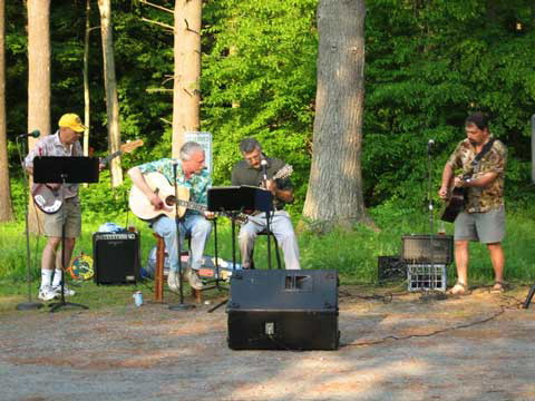 """""""The Ruthless Geezers"""" did a benefit concert in the church parking lot to raise funds for our parish Outreach ministries."""